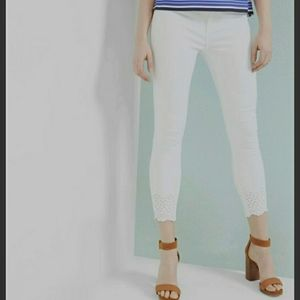 Ted Baker Massiee White Embroidered Jeans 27